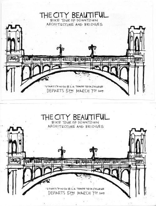 The City Beautiful master (bottom half is the original artwork)