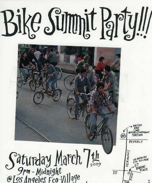 Original artwork master for bike summit party flier (cropped due to my unfamiliarity with my neighbor's scanner)