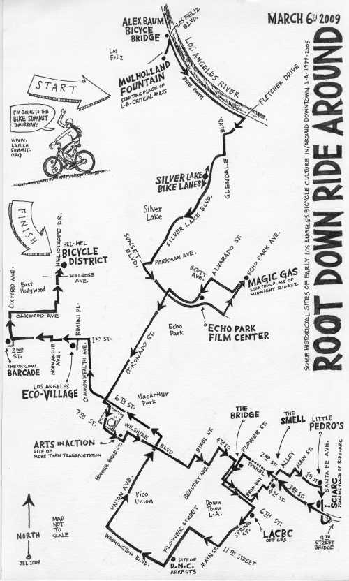 Root Down Ride Around map
